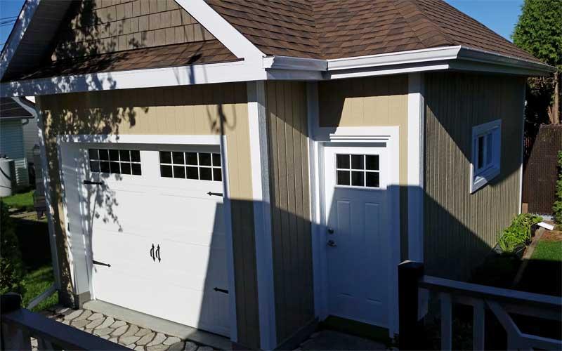 Garage isolé stylisé