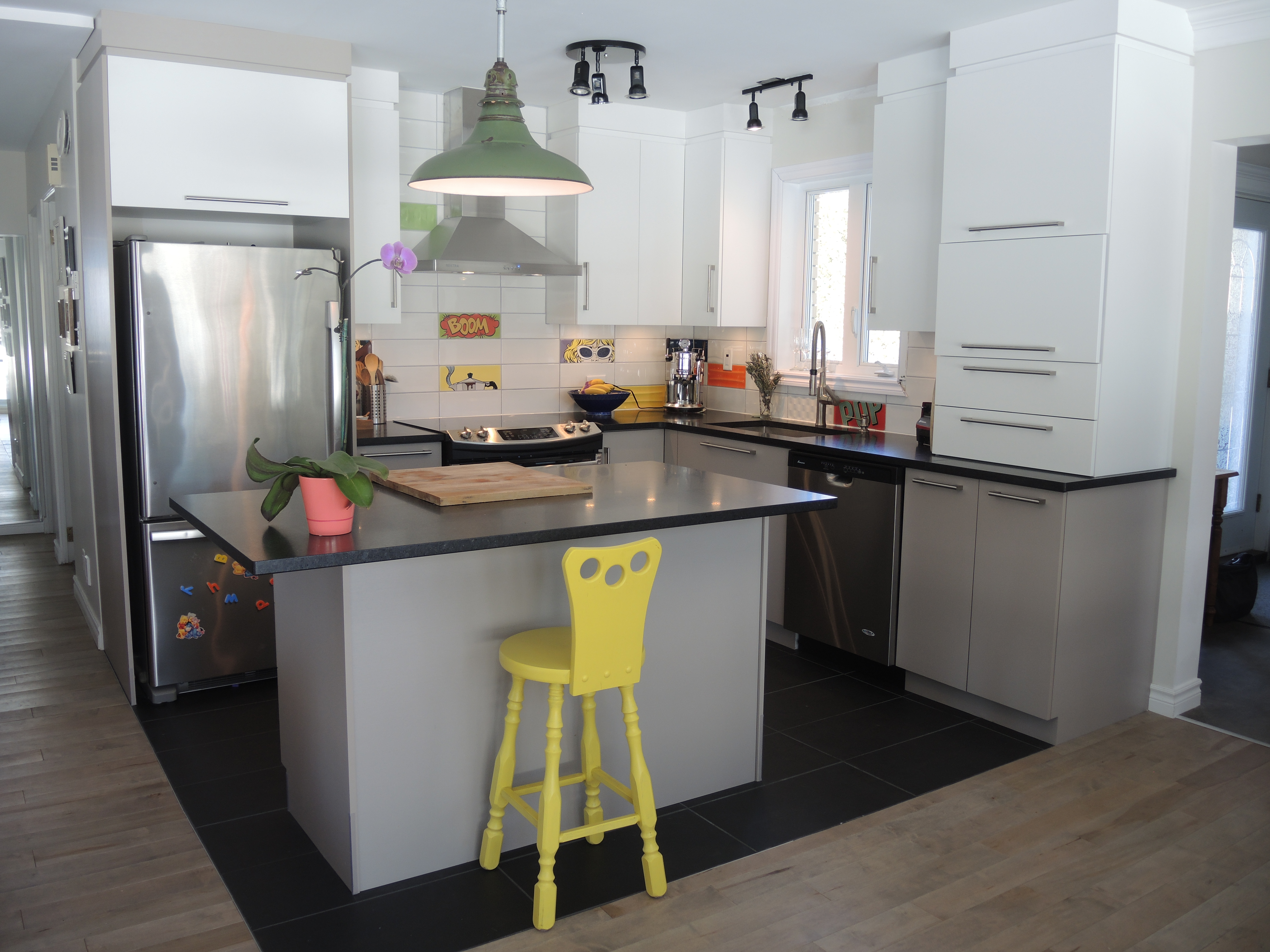 Rénovation intérieure écologique salon et cuisine